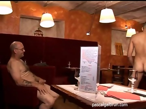 Banging, Fingering, French, Gangbang, Hardcore, Mature, Restaurant