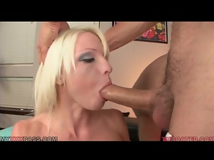 Bimbo, Blowjob, Deepthroat, Dick, Fake tits