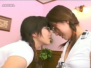 Cute, Japanese, Kissing, Schoolgirl uniform, Sucking, Tongue