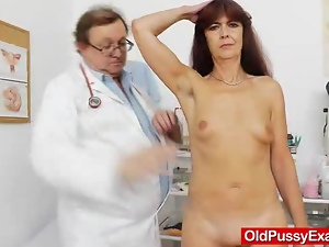 Doctor, Gaping hole, Granny, Gyno exam, Mature