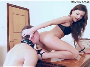 Leashed, Mistress, Pussy, Rimjob, Slave