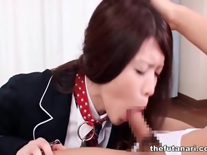 Blowjob, Dick, Japanese, Leashed, Shemales, Sucking