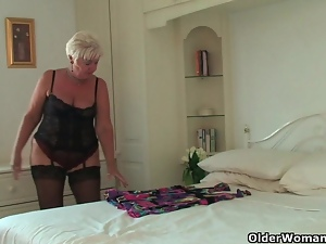 Chubby, Clit, Grandma, Lingerie, Mature, Piercing, Stockings, Tickling