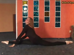 Ballerina, Beautiful, Big tits, Black, Flexible, Spandex