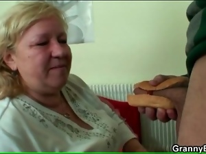 Bbw, Blowjob, Dick, Fat, Food, Grandma, Sucking