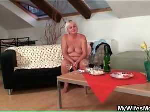 Blowjob, Dick, Drunk, Lady, Nude, Old, Old and young, Sucking