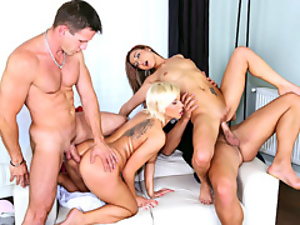 Big cock, European, Fucking, Group sex, Hardcore, Pussy, Young