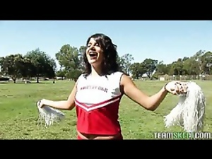 Brunettes, Cheerleader, Fucking, Lockerroom, Schoolgirl uniform, Stupid girl, Teens