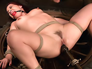 Bondage, Bound, Chick, Hardcore, Machine sex, Slut