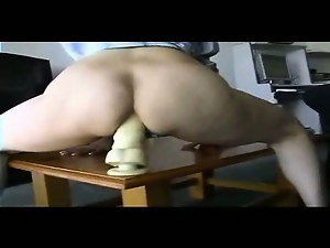 Amateur, Anus, Dildo, Huge, Wife, Wild