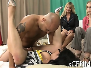 Blowjob, Breast, Cfnm, Group sex, Sperm