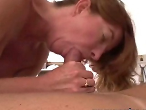 Big tits, Blowjob, Couple, Mature, Milf, Oral, Redheads