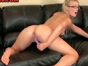 Amateur, Babes, Blondes, Dildo, Glasses, Homemade, Pink, Pussy, Skinny, Teens, Webcam, Wet
