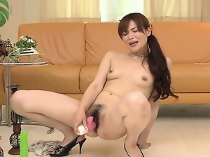 Amateur, Asian, Babes, Brunettes, Hairy, Horny, Japanese, Masturbating, Pink, Pussy, Sex toys