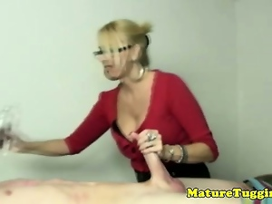Big tits, Blondes, Dick, Handjob, Mature, Milf, Pov