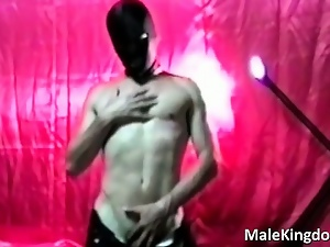 Dancing, Gay, Mask, Masturbating, Solo