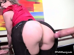 Ass, Blondes, Booty, Cfnm, Cum, Cumshots, Fetish, Hardcore, Nylon, Office, Uniform
