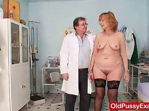 Amateur, Clinic, Close up, Gaping hole, Gyno exam, Hairy, Mature, Pussy, Redheads, Squirting