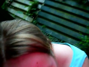 Bbw, Blondes, Blowjob, Flashing, Garden