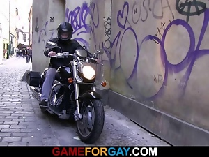 Amateur, Biker, Blowjob, Gay, Muscled, Seduce