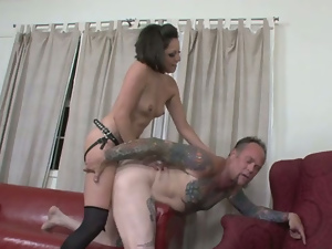 Anal, Ass, Brunettes, Doggystyle, Femdom, Fetish, Hardcore, Sex toys, Small tits, Story, Strapon