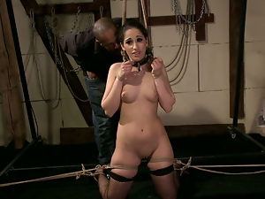Bdsm, Black, Bondage, Brunettes, Groping, Interracial, Nipples, Stockings