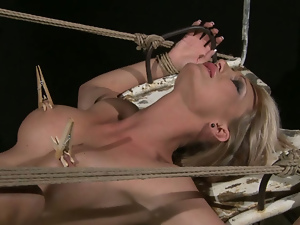 Bdsm, Big tits, Blondes, Blowjob, Bondage, Busty, Cage, Fake tits, Gorgeous, Nipples