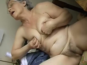 Bedroom, Close up, Dildo, Fat, Fingering, Granny, Hairy, Masturbating, Pussy, Sex toys, Solo, White
