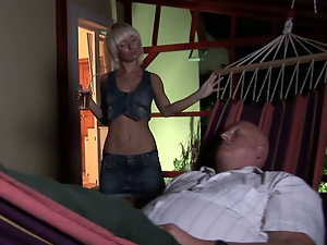 Blondes, Blowjob, Fucking, Kitchen, Old and young, Small tits, Teens