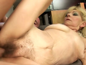 Blondes, Cum drenched, Doggystyle, Granny, Hairy, Old and young