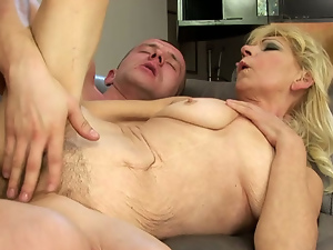 Blondes, Cum drenched, Fingering, Granny, Hairy, Old and young, Riding
