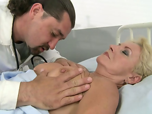 Blondes, Blowjob, Doctor, Granny, Short hair