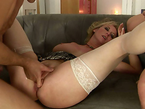 Blondes, Blowjob, Doggystyle, Double penetration, Fetish, Fingering, Mature, Sperm, Stockings, Threesome