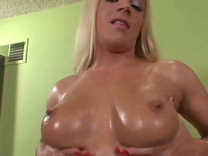 Big tits, Blondes, Busty, Hd, Lingerie, Oiled, Pornstars, Shorts, Solo, Strip