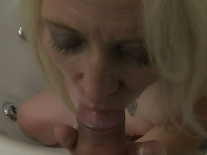 Ass, Bathing, Blondes, Blowjob, Doggystyle, Fingering, Granny, Mature, Mom, Pov