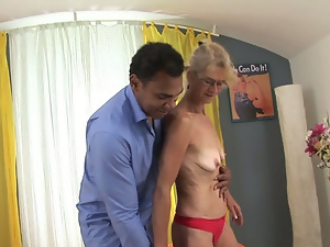 Black, Blowjob, Granny, Interracial, Nipples