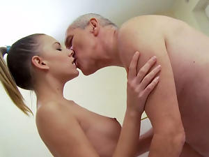 Blondes, Blowjob, Grandpa, Old and young, Pussy, Sex toys, Shaved, Shower, Small tits, Teens