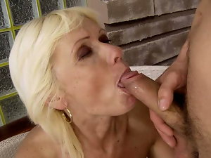 Blowjob, Close up, Granny, Hardcore, Old and young, Pussy, Rich
