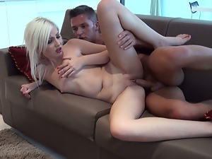 Blondes, Couple, Hardcore, Pussy, Small tits, Workout