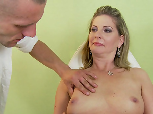 Busty, Close up, Doctor, Mature, Mom, Old and young, Young