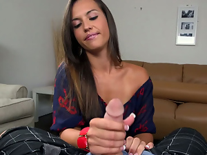 Ass, Brunettes, Handjob, Long hair, Pov, Teens, Tugjob
