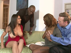 Ass, Big cock, Big tits, Black, Blowjob, Brunettes, Busty, Ebony, Group sex, Hardcore, Interracial, Riding, Shaved, Swingers