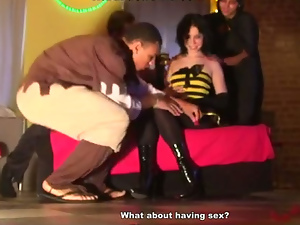 4some, Ass, Blowjob, Brunettes, Clothed sex, Deepthroat, Fucking, Gangbang, Group sex, Halloween, Hardcore, Party, Russian, Teens, Threesome