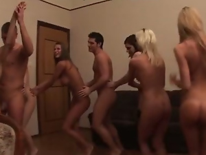 Blowjob, Brunettes, Group sex, Hardcore, Homemade, Orgy, Party, Russian, Small tits, Student, Teens