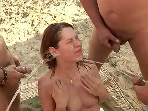 Busty, Gangbang, Outdoor, Ranch