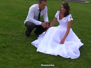 Blowjob, Bride, Friend, Gangbang, Hardcore, Outdoor, Russian, Share, Small tits, Teens