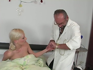 Blondes, Blowjob, Doctor, Old and young, Small tits, Teens