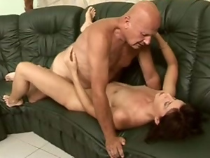 Cumshots, Facials, Hardcore, Missionary, Old and young, Old man, Small tits, Teens, Threesome