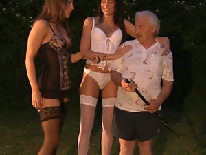 Blondes, Blowjob, Brunettes, Doggystyle, Fucking, Garden, Hardcore, Lingerie, Old, Old and young, Outdoor, Small tits, Stockings, Teens, Threesome, Young