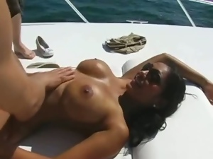 Ass, Babes, Big tits, Boat, Busty, Fingering, Fucking, Indian, Massage, Oiled, Outdoor, Pornstars, Yacht